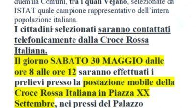 Il 30 MAGGIO a VEJANO- CROCE ROSSA ITALIANA e ISTAT