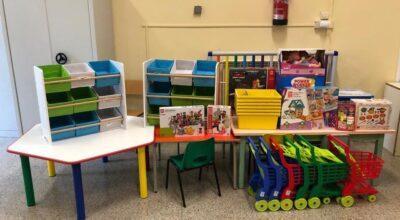 Donazione giochi alla Scuola dell'Infanzia di Vejano.