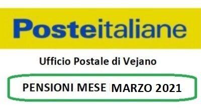 Poste Italiane: PENSIONI MESE MARZO 2021