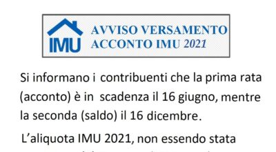 Scadenza e aliquota IMU 2021