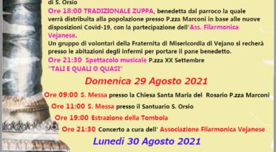 Programma festeggiamenti per il Patrono S. Orsio